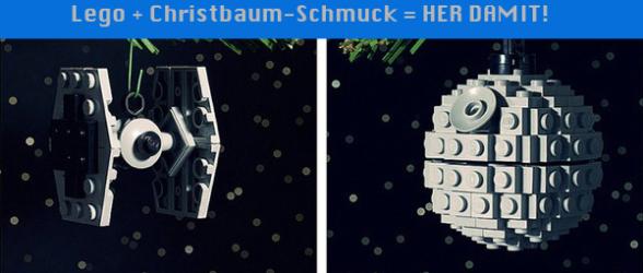 Lego + Christbaum-Schmuck = HER DAMIT!