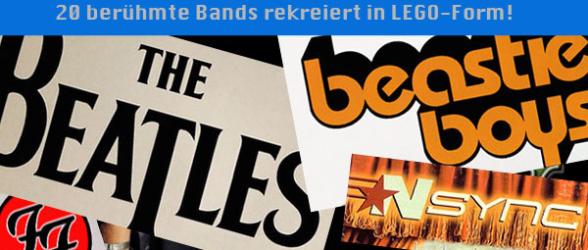 20 berühmte Bands rekreiert in LEGO-Form!