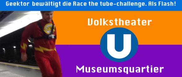 Geektor stellt sich der Race The Tube-Challenge
